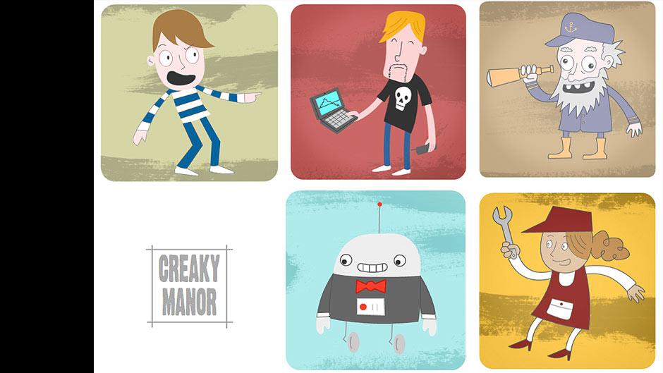 Creaky Manor Characters